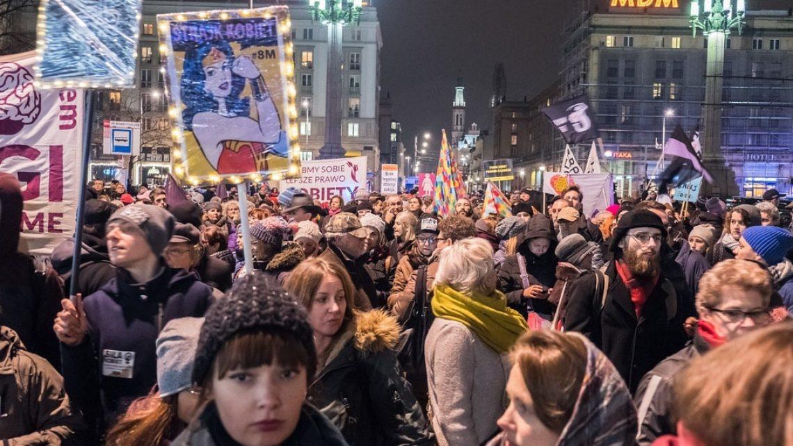 Demonstration zum Internationalen Frauentag am 8. März 2018 in Warschau