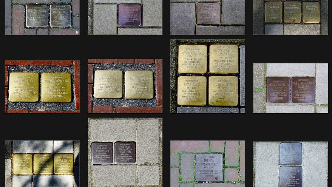 Stolpersteine sind ein Projekt des Berliner Künstlers Gunter Demnig. Mit den kleinen Gedenktafeln soll an das Schicksal der Menschen erinnert werden, die in der NS-Zeit verfolgt, ermordet, deportiert, vertrieben oder in den Suizid getrieben wurden. Im Foto: in Den Haag verlegte Stolpersteine.